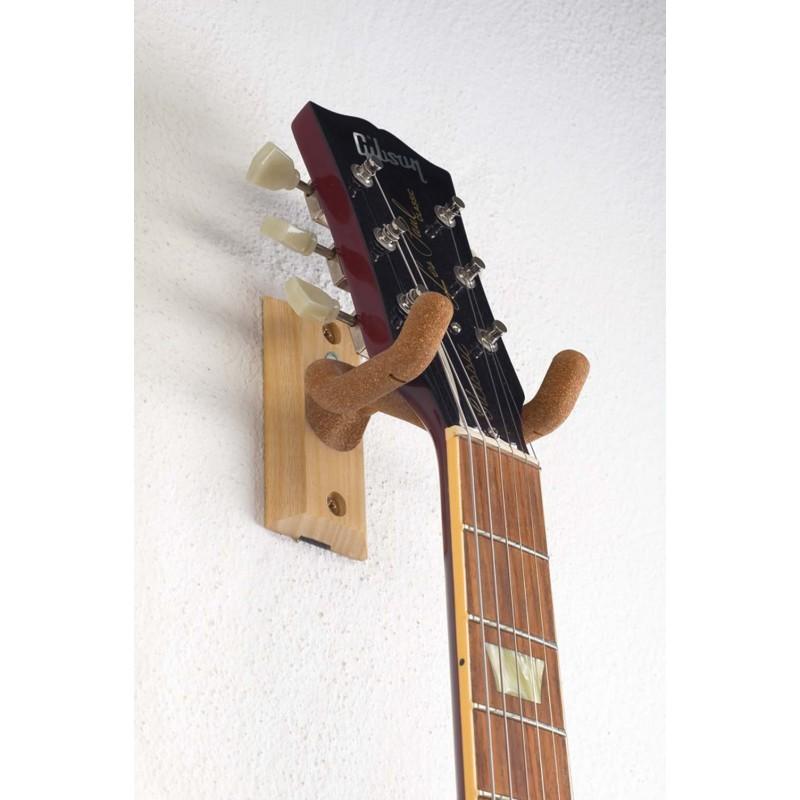 KM 16220 Guitar wall mount wood/cork
