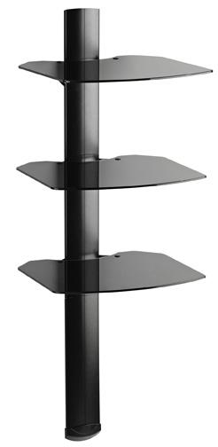 OM TRIA 3 AV Wall Shelf: 3 Shelf Black