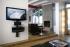 OM TRIA 2 AV Wall Shelf: 2 Shelf Black